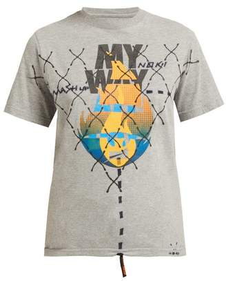 Noki - Customised Street Couture T Shirt - Womens - Grey Multi