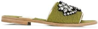 Premiata embellished slippers