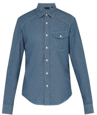 Belstaff Steadway Chambray Shirt - Mens - Blue