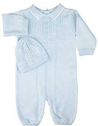Feltman Brothers Boys Knit Take Home Layette Set with Hat (6M)