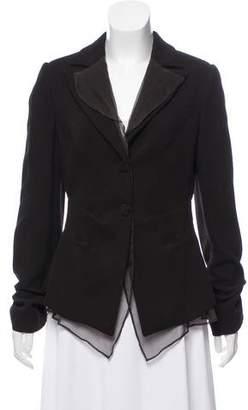Giorgio Armani Structured Silk Blazer