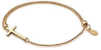 Alex and Ani Cross Pull Chain Bracelet, 14kt Gold Plated