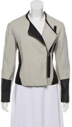 Helmut Lang Leather-Trimmed Knit Jacket