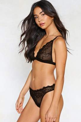Nasty Gal Set For Anything Lace Bralette and Panty Set