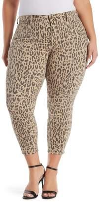 NYDJ Alina Leopard Print Ankle Jeans (Plus Size)