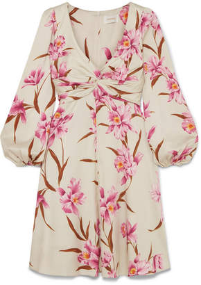 Zimmermann Printed Stretch-silk Twill Mini Dress