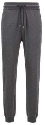 BOSS Hugo Regular-rise loungewear bottoms in cotton drawstring waist M Grey