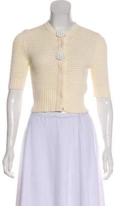 Fendi Cropped Knit Cardigan w/ Tags