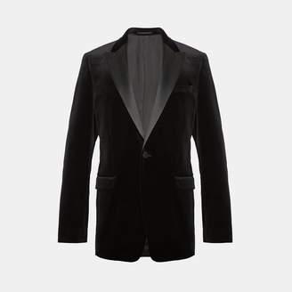 Theory Stretch Velvet Tuxedo Blazer
