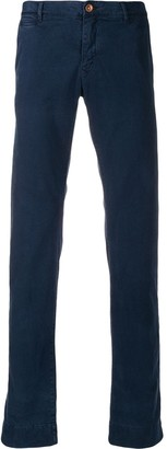 Hand Picked slim-fit mid-rise chinos