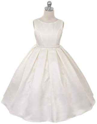 Kids Dream Ruby- Classic Pleated Dress Ivory
