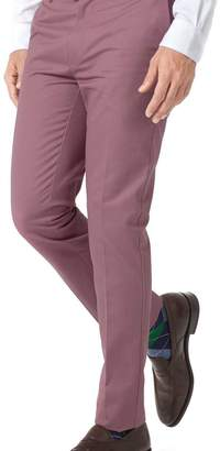 Charles Tyrwhitt Light pink extra slim fit flat front non-iron chinos
