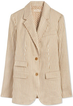 5d069db394d Striped Linen Blazer - ShopStyle UK