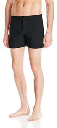 Parke & Ronen Men's Lido Solid 5 inch Swim Short