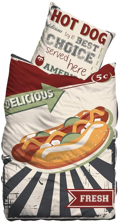 Linon-Bettwäsche Hot Dog