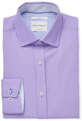 English Laundry Con.Struct Lavender Slim Fit Dress Shirt