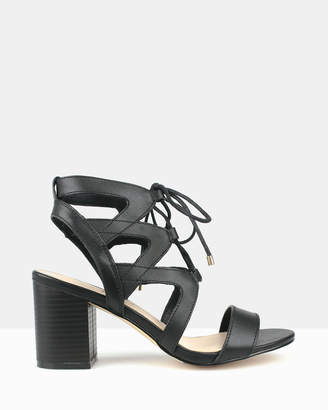 betts Gypsy Leather Cut Out Lace Up Sandals