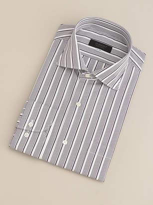 Shirts u0026 Tie 【Du0027URBAN BLACK】ワイドカラーボルドーカスケードストライプドレスシャツ