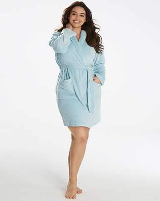 Pretty Secrets Fluffy Fleece Wrap Gown L38