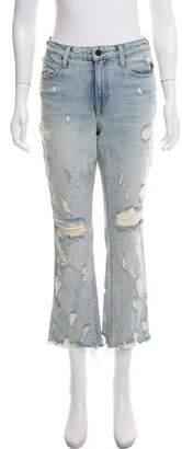 Alexander Wang Denim x Mid-Rise Distressed Jeans