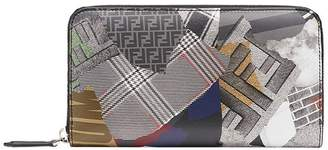 Fendi printed zip-around wallet