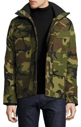 Canada Goose Maitland Hooded Parka, Green Multi Camouflage $800 thestylecure.com