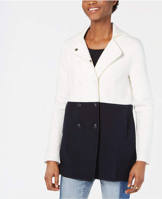 Tommy Hilfiger Colorblocked Pea Coat