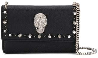 Philipp Plein crystal skull crossbody bag