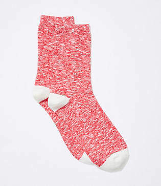 LOFT Marled Crew Socks
