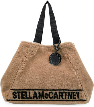 Stella McCartney Carry All Stella Faux-Shearling Tote Bag