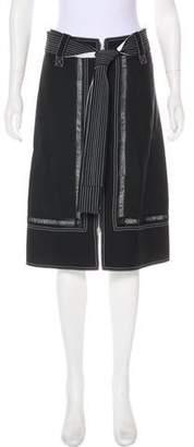 Derek Lam Belt-Accented Knee-Length Skirt