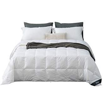 Globon White Goose Down Comforter/Blanket King Lightweight Summer