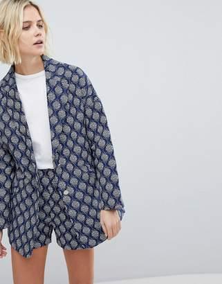 Suncoo Oversized Textured Jacket