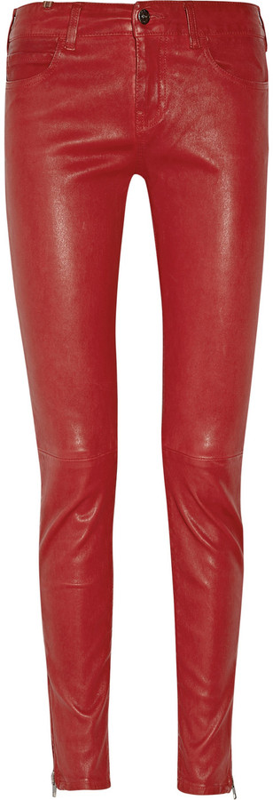 Notify Bamboo mid-rise skinny leather pants