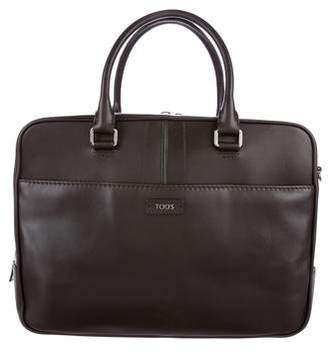 Tod's Leather Media Briefcase