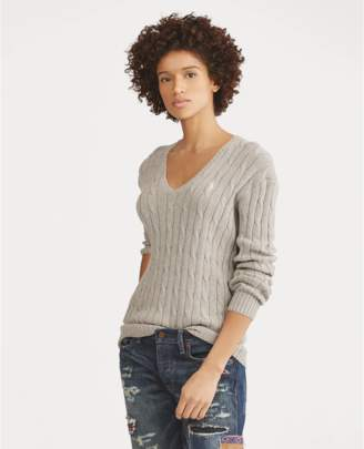Polo Ralph Lauren Cotton Cable V-Neck Sweater