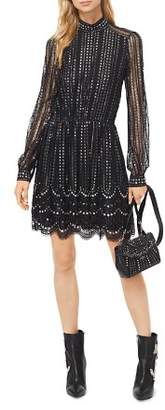 MICHAEL Michael Kors MICHAEL Embellished Embroidered Lace Dress
