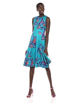 Calvin Klein Women's Sleeveless Princess Seamed A-line midi Dress, 2