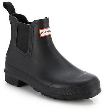 Hunter Short Slip-On Rubber Boots