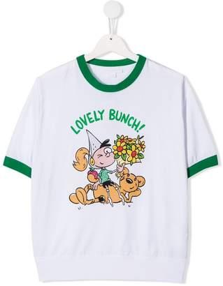 Burberry TEEN Cartoon Print Cotton T-shirt