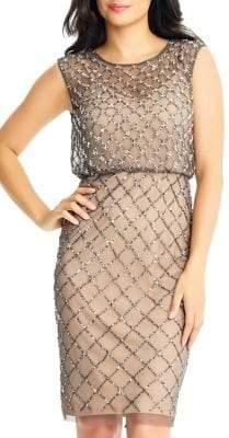 Adrianna Papell Beaded Sleeveless Sheath Dress