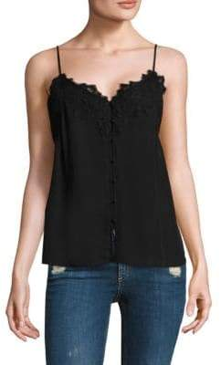 Paige Silk Aviana Button-Front Camisole