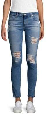 AG Jeans Distressed Super Skinny Legging Ankle Jeans