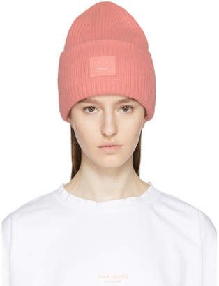 Acne Studios Pink Pansy S Face Beanie
