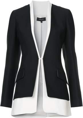 Derek Lam Bicolored Collarless Tailored Jacket