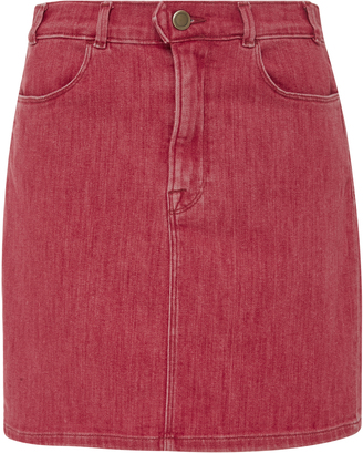 Frame Denim Le Color Denim Pencil Skirt $225 thestylecure.com