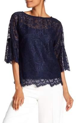 Trina Turk September 3/4 Sleeve Lace Knit Blouse