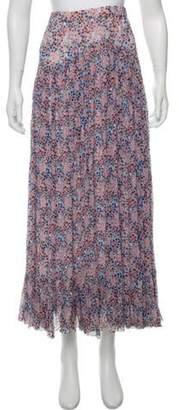 Philosophy di Lorenzo Serafini Midi Floral Skirt Blue Midi Floral Skirt