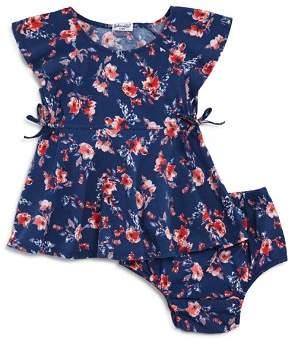 Splendid Girls' Floral Print Flutter-Sleeve Dress & Bloomers Set - Baby