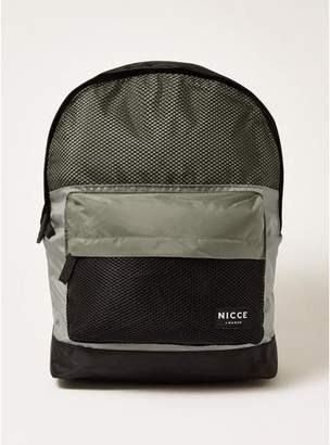 Topman Mens Black NICCE Sports Backpack